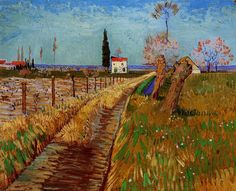 """ Vincent van Gogh (Dutch, 1853-1890), Path Through a Field with Willows, 1888, oil on canvas. """