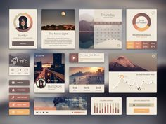 Ui Kit Rainy Season by Sunbzy, via Behance