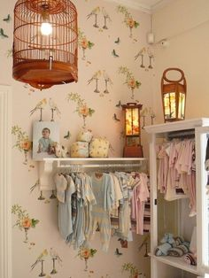 DIY How to Hang Baby clothes on the wall. ! Plus 25 More DIY Hacks To Make Room For A Baby In a Small Home
