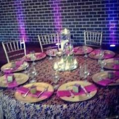 Purple wedding table ideas from Soul Mate Weddings And Events - Event And Wedding catering