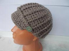 Newsboy hat crochet hat women women knitted hat winter gift