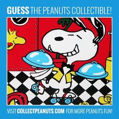 Fast Service! Guess the Snoopy and Woodstock collectible in today's Peanuts Puzzler! Check CollectPeanuts.com for the answer.