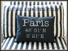 latitude and longitude pillow
