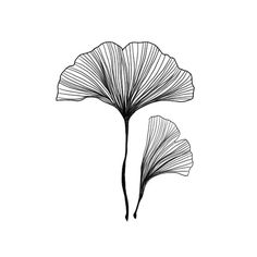 Gingko Leaves Temporary Tatoo Set of 2 by WonderInks on Etsy