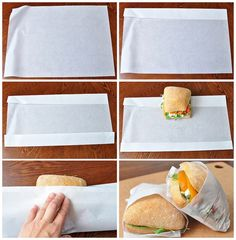How To: Wrap Sandwiches in Parchment Paper