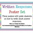 Written Responses Poster Set Prepare for the PARCC These posters will guide students on how to write short answer responses....