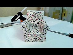 Кресло-качалка миниатюра / Rocking chair miniature - YouTube