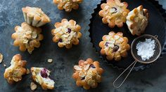 Cherry and almond financiers | French recipes | SBS Food