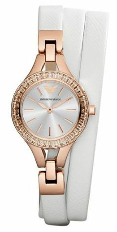 Rose gold + leather wrap watch