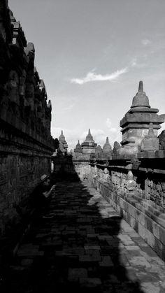 Borobudur Temple   #Archeology #Architecture #Archilovers #Asia #Sculpture #BlackandWhite #BlackandWhitePhotography #Buddhism #Culture #Heritage #Photography #Serenity #Travel #UNESCO #Writing