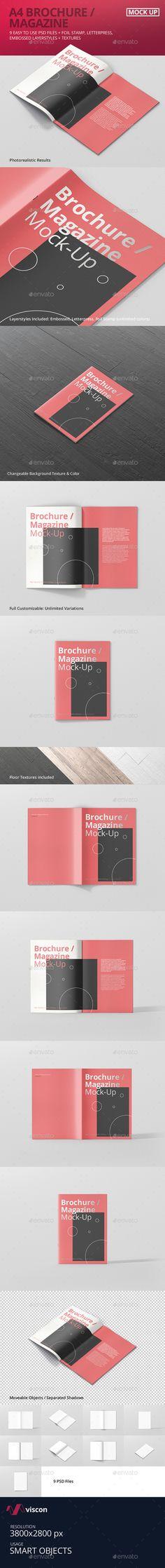 A4 Brochure / Magazine Mock-Up. Download here: http://graphicriver.net/item/a4-brochure-magazine-mockup/16534817?ref=ksioks
