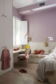 Los colores más decorativos para pintar la casa Home Design Decor, Interior Design, Lavender Room, Cute Room Decor, Pink Room, Small Room Bedroom, New Room, Cozy House, Home Decor Inspiration