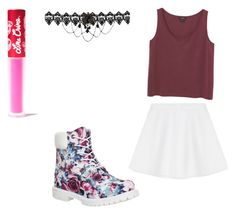 """Woman - The 1975"" by flower-boy on Polyvore featuring beauty, Timberland, Lime Crime, Monki and RED Valentino"