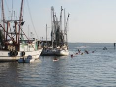 A view from the boardwalk in Shem Creek, Mount Pleasant, SC