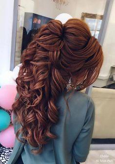 Romantic half up half down hairstyle ideas - wedding hairstyles - . - Romantic half up half down hairstyle ideas – wedding hairstyles – - Step By Step Hairstyles, Easy Hairstyles, Hairstyle Ideas, Hairstyles 2018, Beautiful Hairstyles, Casual Hairstyles, Hair Ideas, Black Hairstyles, Hairstyles Pictures