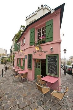 La Maison Rose, Montmarte, Paris
