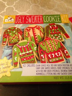 64 Best Ugly Sweater Cookies Images Decorated Cookies Christmas