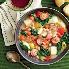 White Bean, Sausage, and Turnip Green Stew | MyRecipes.com Turnip greens, a Southern staple, have a peppery and slightly sweet taste. Look for smaller leaves or baby turnip greens, which are more tender.