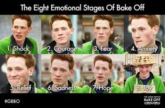 Andrew's face sums up the emotional roller coaster that is The Great British Bake Off.