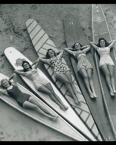 surfer girls....Reminds me of Amanda, Anna, Amy, Katie, and Addie!