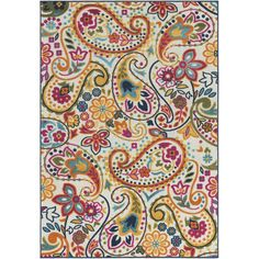 Combining both style and grace is the colorful Reyna collection. Displaying a stunning paisley pattern, this gorgeous piece is made with 100% synthetic material, making it not only affordable, but durable enough to decorate your outdoor space! Bring your decorating ideas to life with this beautiful rug, it will make the perfect centerpiece for your room or patio.
