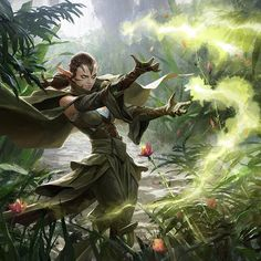 """""""another Nissa painting for Magic : The Gathering, looking forward to seeing it on the card"""""""