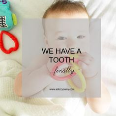 We Have A Tooth - Finally - www.adizzydaisy.com Teething, Tooth, Baby, Teeth, Infants, Baby Humor, Babies, Infant, Doll