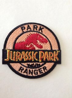 Jurassic Park Ranger embroidered patch movie Prop Theme Badge Full Prop Size