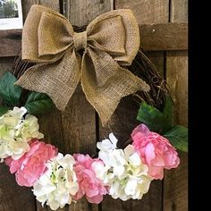 Stacy James added a photo of their purchase Wedding Chair Bows, Wedding Pews, Wedding Wreaths, Wedding Chairs, Tulle Wedding, Rustic Wedding, Burlap Lace, Burlap Bows, Bridal Shower Decorations
