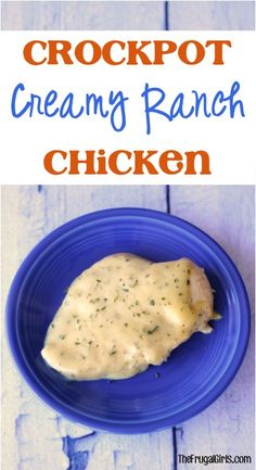 Crockpot Creamy Ranch Chicken Recipe! ~ from TheFrugalGirls.com ~ just a few ingredients and your Slow Cooker, and you've got a delicious homestyle chicken dinner! #slowcooker #recipes #thefrugalgirls