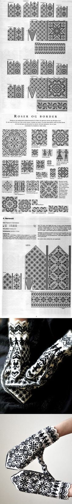 The traditions of knitting, or the story of the famous patterned mittens Fair Isle Knitting, Knit Mittens, Knit Crochet, Knitting Patterns, Diy And Crafts, Gloves, Cross Stitch, Tapestry, Inspiration