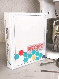 Recipe Binder   DIY Recipe Collection Binder Kit   Printable Recipe Kit   Organize your recipes   Clean Kitchen