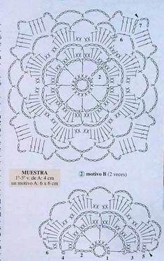 Discover thousands of images about MARVELOUS square Crochet Bedspread Pattern, Crochet Motif Patterns, Crochet Diagram, Crochet Chart, Thread Crochet, Crochet Designs, Crochet Stitches, Crochet Flower Squares, Crochet Mandala