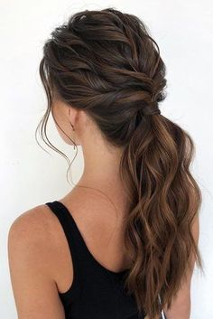 53 Best Ponytail Hairstyles { Low and High Ponytails } To Inspire - Ponytail hai. - 53 Best Ponytail Hairstyles { Low and High Ponytails } To Inspire – Ponytail hairstyles Cute Ponytail Hairstyles, Twist Ponytail, Braided Hairstyles, Trendy Hairstyles, Formal Ponytail, Ponytail Easy, Curly Hairstyles For Prom, Low Pony Hairstyles, Black Hairstyles