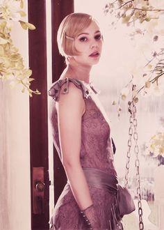 Carey Mulligan portraying Daisy Buchanan in The Great Gatsby