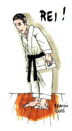 Begrüßen im Budo/Karate-Do.