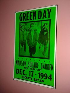 Back in the day concert sign in on Dec. Concert Signs, Madison Square, Green Day, Back In The Day, City, Music, Garden, Image, Design