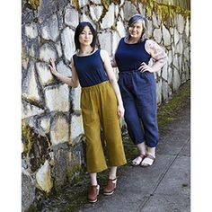 Sew House Seven Free-Range Slacks Sewing Pattern - Slacks are defined as trousers for casual wear. While we donâ€t hear that term much these days, we think it is time to embrace it again. The Free Range Slacks pattern is as. Flat Felled Seam, Dress Making Patterns, Sewing Blogs, Sewing Projects, Free Range, Curvy Fit, Couture, Fashion Fabric, Digital Pattern