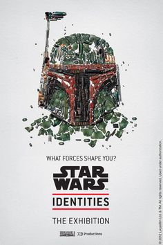 BleuBlancRouge - Posters for a Star Wars Exhibition Montréal. Boba Fett