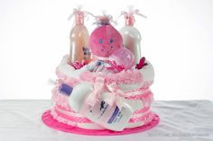 How To Make A Diaper Cake: Sabaducci's By: Carol Wentt |Diaper cake & Towel Cakes | Candy Bouquets | Gift Baskets