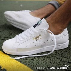 The Best Men's Shoes And Footwear : Puma Match 74 -Read More – Sneakers Mode, Puma Sneakers, Best Sneakers, White Sneakers, Sneakers Fashion, Fashion Shoes, Shoes Sneakers, Mens Puma Trainers, Sneakers Workout