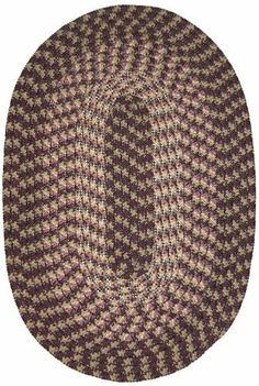 """Hometown 9'6"""" x 13'6"""" Braided Rug in Eggplant by Constitution Rugs LLC. $384.25. Stitched with Polyester sewing thread. 100% Nylon BCF surface yarns. Reversible for added wear. Rugged Tubular Braid Construction. Manufactured 100% in the U.S.A. Our longest selling tubular braid product! Complementary colors both bright and muted are carefully blended into this truly colonial styled rug. Bring the warmth of New England into your kitchen, den or bedroom!"""