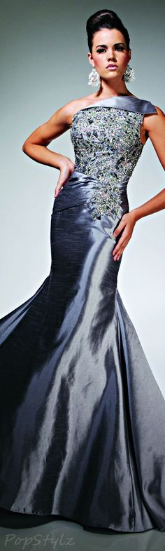 Elegant Long One Shoulder Silver Gown by Tony Bowls Dresses 2013, Prom Dresses, Formal Dresses, Wedding Dresses, Pageant Gowns, Dress Prom, Club Dresses, Dresses Online, Lace Dresses