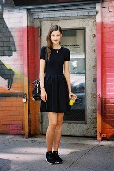 Kayley Chabot New York Fashion Week SS 2014 #streetstyle #model