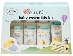 Cute gift Childs Farm Baby Essentials Gift Set #ad Childs Farm, Baby Toiletries, Baby Bedtime, Baby Essentials, Cute Gifts, Bubbles, Delicate, Baby Shower, Kit