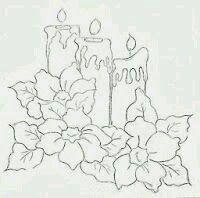 Resultado De Imagen Para Moldes De Camino De Mesa Gratis En Tela Christmas Coloring Pages Christmas Drawing Christmas Embroidery
