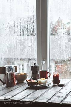 Rainy days.. by AishaY IFTTT 500px Breakfast Rain Rainy day breakfast table coffee food photography indoor muesli natural