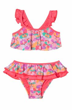 ac799c52fad Hula Star Butterfly Cutie Two-Piece Swimsuit (Toddler Girls & Little Girls)  | Nordstrom