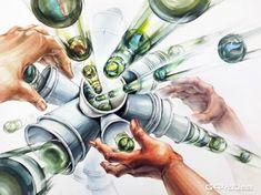 월간그린섬 2015.8월 첫째주 : 네이버 블로그 Composition Design, Watercolor, Creative, Anime, Homework, Perspective, Character, Pen And Wash, Watercolor Painting
