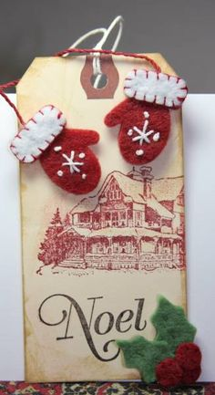 DEC12VSNMINI3 Mitten Tag by CAKath - Cards and Paper Crafts at Splitcoaststampers